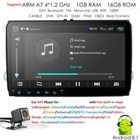 9 андроид 8,1 автомобильный мультимедийный плеер 2Din для VW/Volkswagen/Гольф/поло/Tiguan/Passat/b7/b6/SEAT/Леон/Skoda/Octavia радио gps аудио