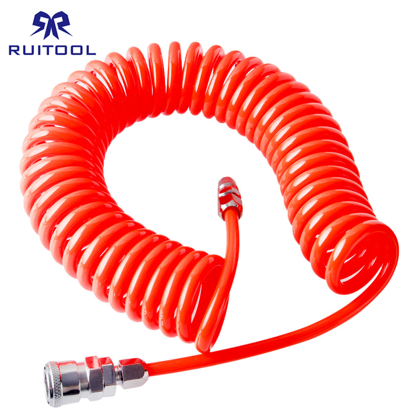 Air Compressor Hose 6m/9m/12m/15m Pneumatics Air Tools Plastic Tube Air PU Tube Pneumatics Tools p 015 corrugated pneumatics coalescing element filter core for air compressor