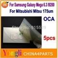 5 шт. Бесплатная Доставка 6.3 ''дюймовый ОСА оптический чистый клей. двухсторонняя наклейка для Samsung Galaxy Mega 6.3 i9200. 250um толщиной