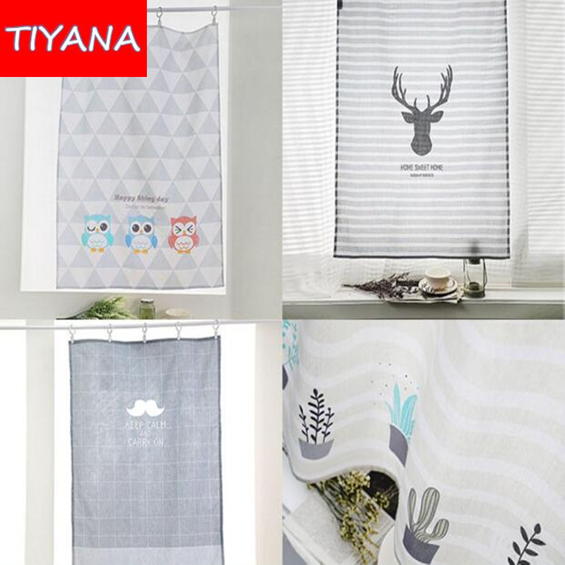 Cartoon Kids Bedroom Door Divider Short Curtains Kitchen Curtain Small  Curtain Decoration Short Curtains For Coffee