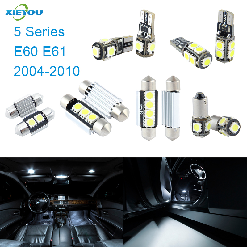XIEYOU 17pcs LED Canbus Interior Lights Kit Package For BMW 5 Series E60 E61 (2004-2010)