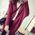 2015 nueva venta caliente de la mujer otoño invierno cardigans capa de la chaqueta abrigos mujer yardas grandes suelta de manga batwing mantón de la señora suéteres