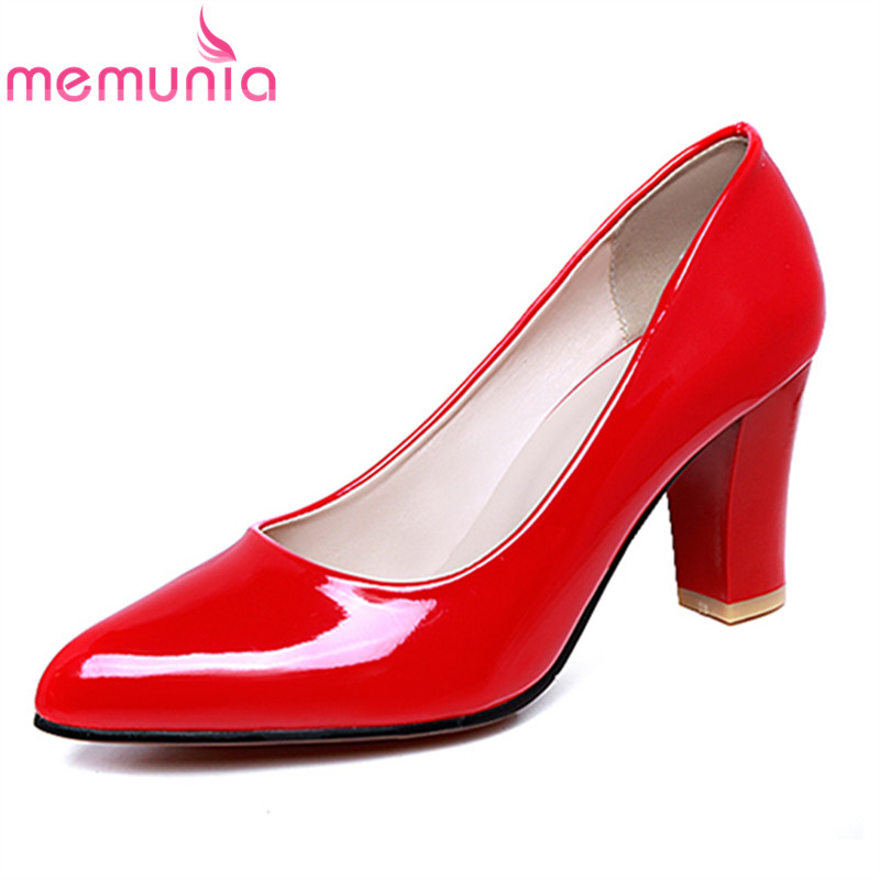 MEMUNIA new arrive women pumps simple pointed toe shallow fashion high heels shoes elegant ladies office shoes big size 34-47 new 2017 spring summer women shoes pointed toe high quality brand fashion womens flats ladies plus size 41 sweet flock t179