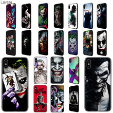 Batman Dark Knight Joker Lavaza Karta Macio TPU Caso Capa para o iPhone Da Apple 6 6S 7 8 Plus 5 5S SE X XS MAX XR Casos de Silicone(China)