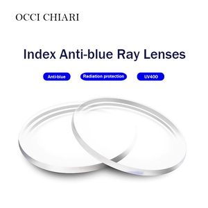 Image 1 - אנטי כחול אחת ראיית עדשות שרף אספריים עדשות לקוצר ראייה רוחק מרשם משקפיים UV400 אופטי עדשה מותאם אישית