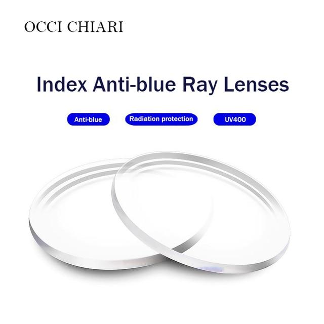 אנטי כחול אחת ראיית עדשות שרף אספריים עדשות לקוצר ראייה רוחק מרשם משקפיים UV400 אופטי עדשה מותאם אישית