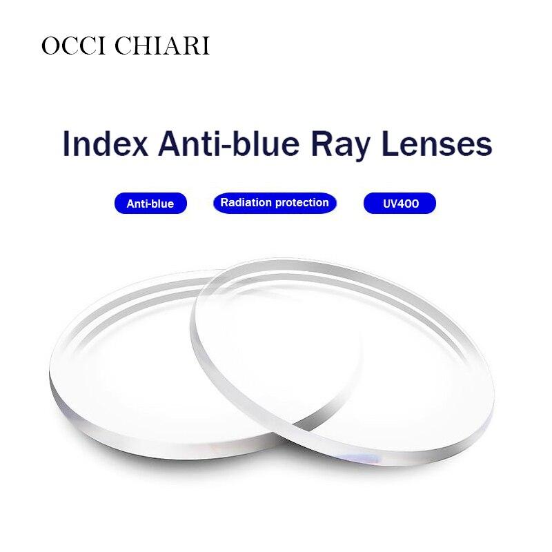 Anti-blue Single Vision Resin Lenses Aspheric Lenses for Myopia Hyperopia Prescription Eyeglasses UV400 Optical Lens Customized