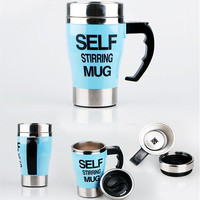 400ML Self Stirring Mug Electric Lazy Smart Double Insulated Cup Stainless Steel Thermal Cup Coffee Milk