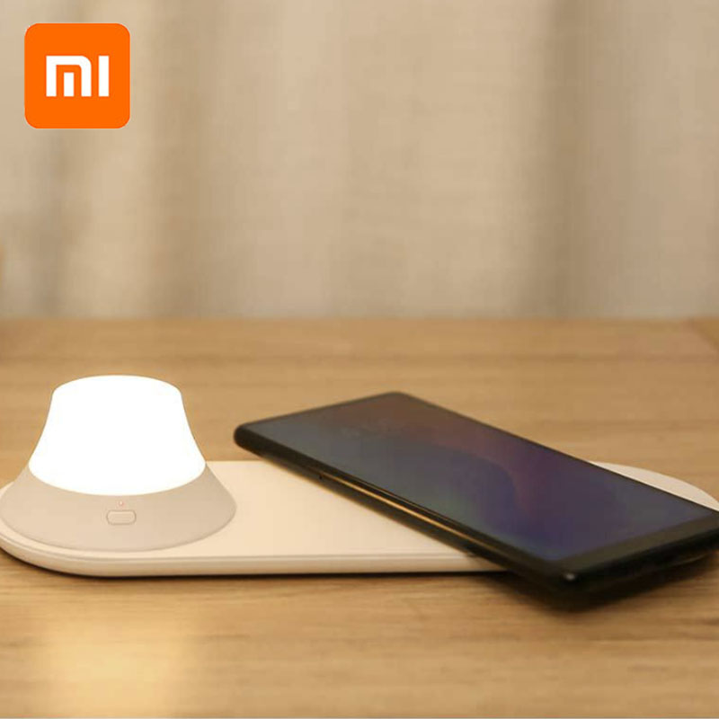 Original Xiaomi Yeelight Wireless Charger LED Night Light Magnetic Attraction Fast Charging For Iphone Samsung Huawei Xiaomi