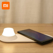 Оригинальный Xiaomi Yeelight беспроводной зарядное устройство светодиодный ночник магнитное притяжение Быстрая зарядка для iPhone samsung huawei Xiaomi