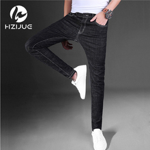 2017 male black skinny denims shorts males's clothes development slim small trousers male informal trousers Large measurement 28-36