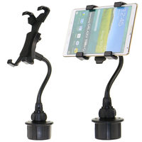 7 10inch Mobile Phone Tablet Holder Claw Plastic Bendy Car Cup Mount Holder Stand Bracket Adjustable