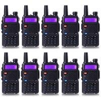 10 Pcs Lot Walkie Talkie UV 5R Baofeng Portable Radio For CB Radio Dual Band 136