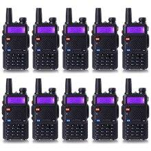 10 Pcs/lot Walkie Talkie UV-5R Baofeng Portable Radio for CB Radio Dual Band 136-174&400-520MHz UV5R Radio
