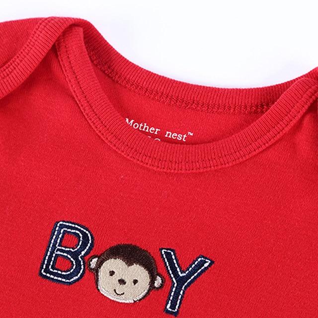 e61ba6b347c2 Online Shop Summer 2018 Baby Romper Red Monkey Embroidered Baby Boy ...