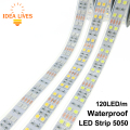 LED Strip 5050 120 LEDs/m DC12V Silicone Tube Waterproof Flexible LED Light Double Row 5050 LED Strip 5m/lot