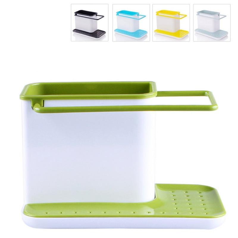 Storage Shelf Sponge Kitchen Draining Sink Box Draining Rack Dish Storage Holder Kitchen Towel Organizer Stands Tidy Utensils