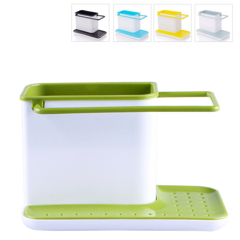 Storage Shelf Sponge Kitchen Draining Sink Box Draining Rack Dish Storage Holder Kitchen Towel Organizer Stands Tidy Utensils