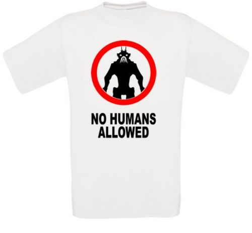 No. Humans Allowed District 9 Cult Movie T-Shirt all Sizes New image