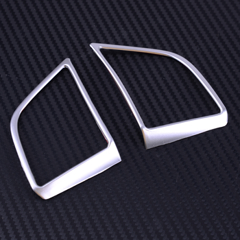 DWCX 2pcs Car Steering Wheel Panel Cover Insert ABS Chrome Cover Trim Fit For Hyundai Tucson 2016 2017 2018 2019 Left Hand Drive image