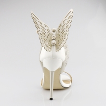 2017 New Fashion Elegant Sexy Super Stiletto Heels Peep Toe With Bowtie Buckle Strap Women Shoes Pumps Party Apricot Purple Gold