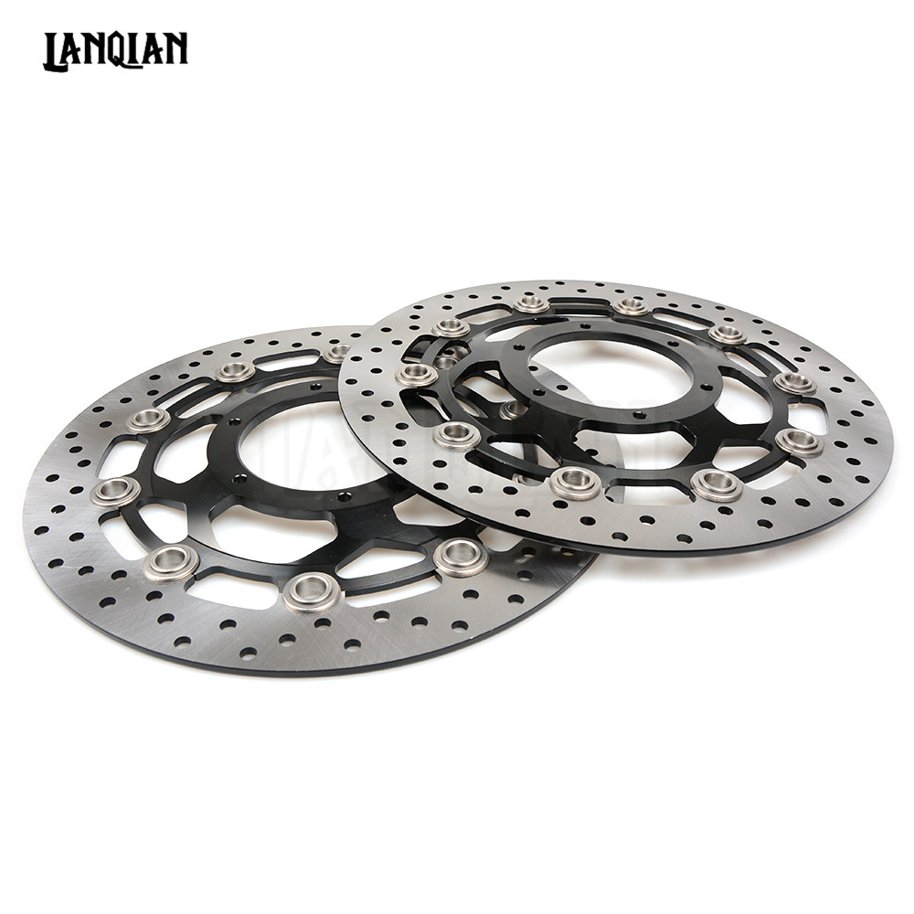 Motorcycle Front Floating Brake Disc Rotor For Honda CBR600RR 2003-2017 CBR1000RR 2004-2005 CB1300 CBR 600RR 1000RR 600 1000 RR one pair high quality motorcycle cbr1000rr front floating brake disc rotor for honda cbr1000rr cbr 1000rr cbr 1000 rr 2004 2005