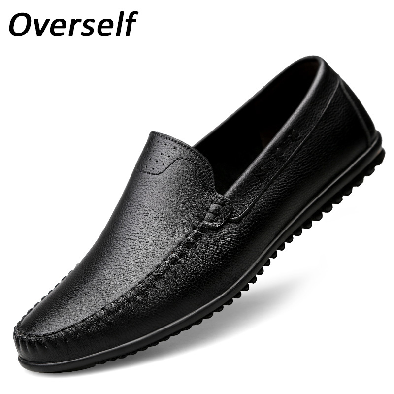 New Men Casual Shoes High Quality Genuine Leather Breathable Handmade Moccasins Loafers Men's Shoes Big Plus Size Spring Summer hot sale mens italian style flat shoes genuine leather handmade men casual flats top quality oxford shoes men leather shoes