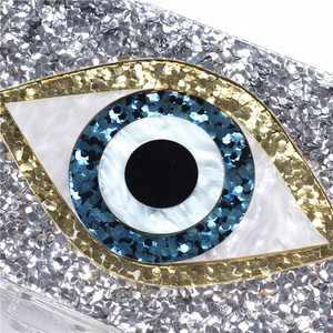 Image 4 - אופנה מותג אקריליק תיק מבריק עין ערב מצמדי נשים שרשרת כתף שליח תיק נצנצים מסיבת חתונה לנשף תיקי ארנק