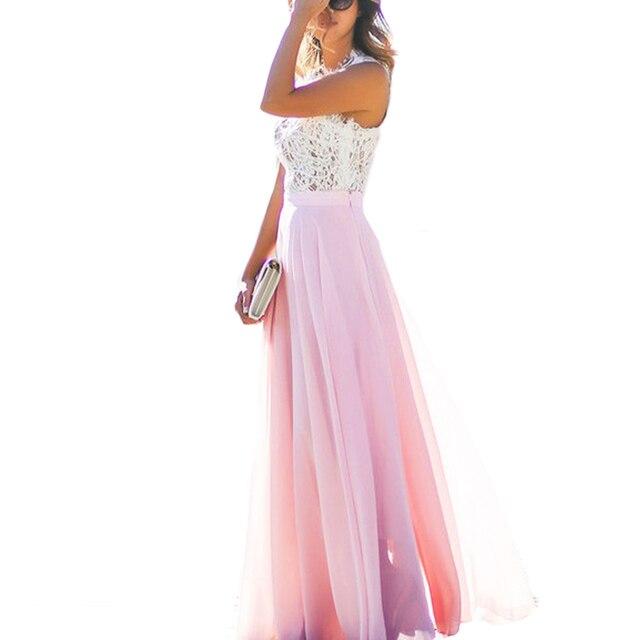 Sexy Off Shoulder Summer Maxi Dress Women Elegant Floral Lace Party ...