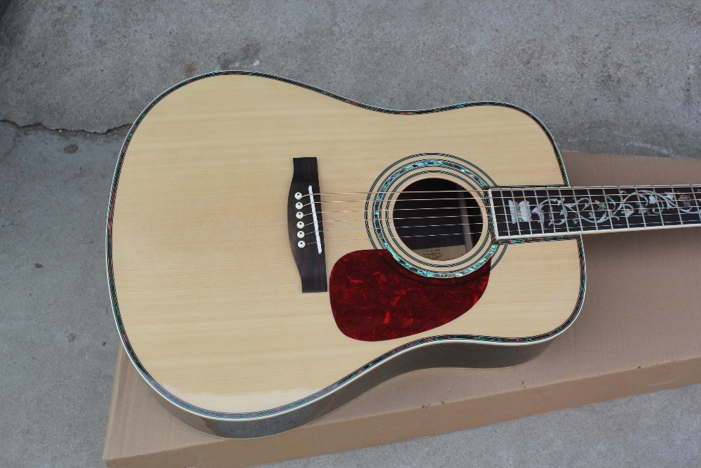 custom guitar factory new Top Quality Solid Spruce Top Rosewood Back Sides Tree of Life Inlay