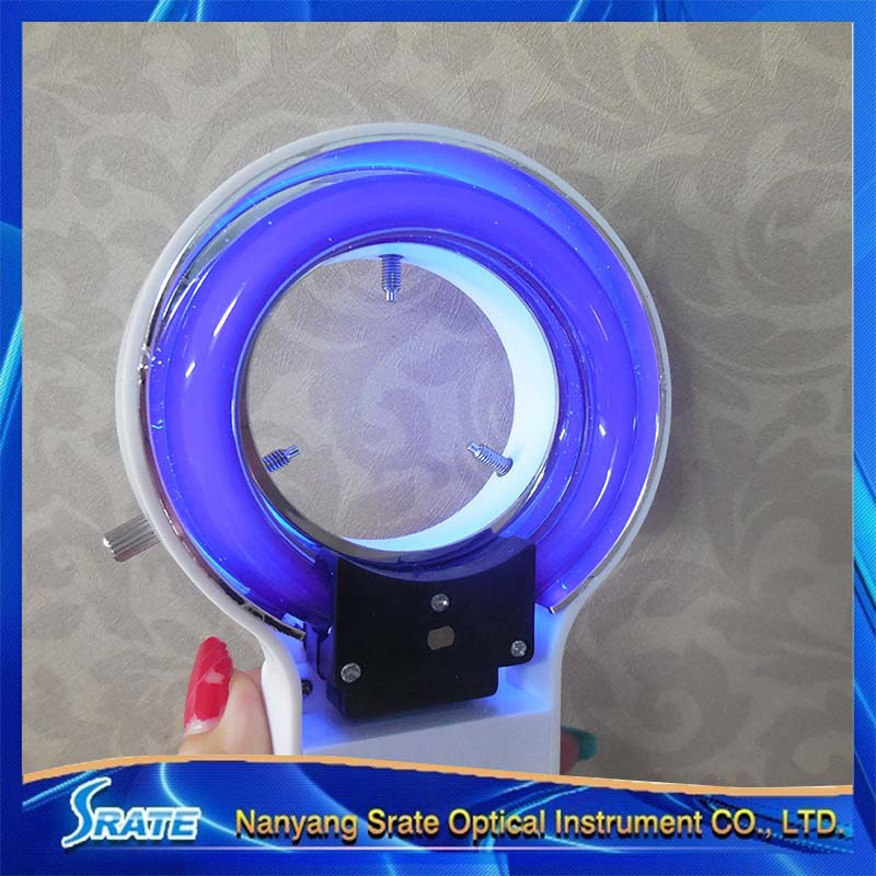 8W Microscope UV Ring Lamp Light Illuminator Purple Fluorescent Money Detector Light microscope ring light microscope d fluorescent lamp