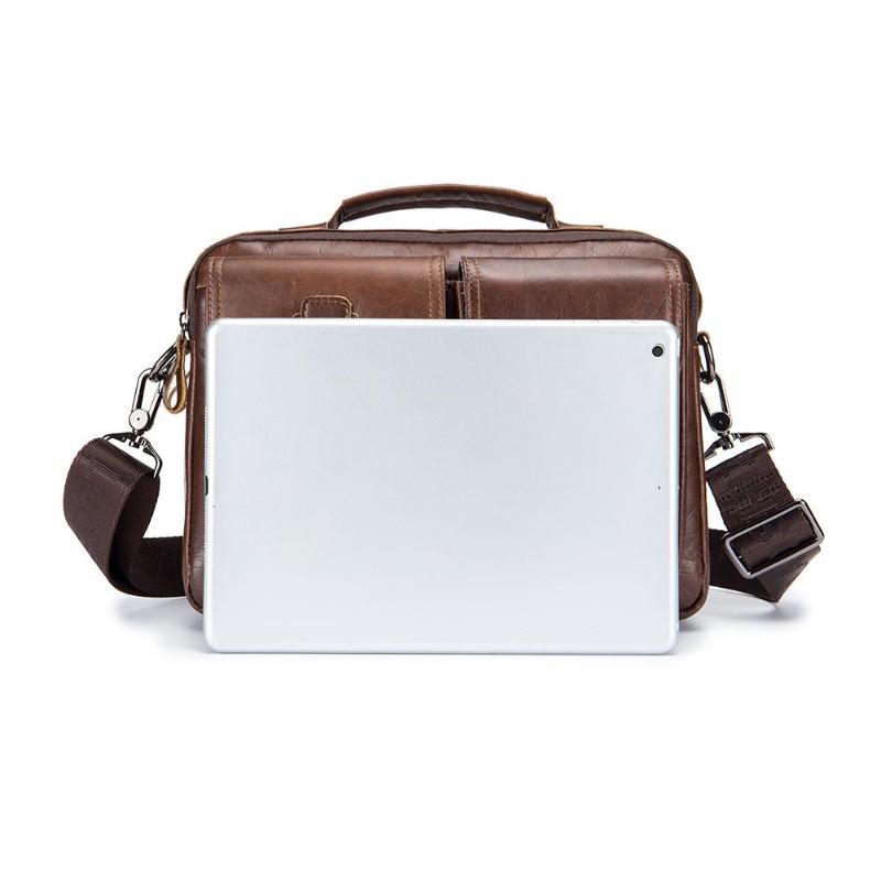 HTB1 F3IPMHqK1RjSZFEq6AGMXXaU Men Business Briefcase Vintage Genuine Leather Laptop Messenger Bag Cowhide Big Capacity Tote Office Handbag Men Briefcase