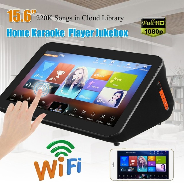 US $516 0 |GymSong Touch Screen Singing Ktv Player System Jukebox Karoake  3tb Hdd Include 66k Song Android Chinese Karaoke Machine-in Karaoke Player