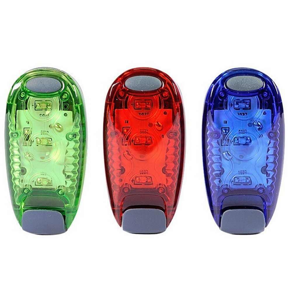 Multi-Fungsi LED Keselamatan Lampu Bersepeda Lampu Sepeda Bagian Klip Pada Berjalan Warning Light Gear Reflektif Malam Hari Bersepeda