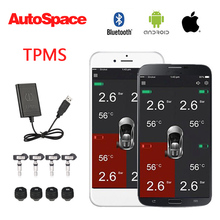 New Car TPMS Tire Pressure Monitoring System Bluetooth Android IOS Wireless Internal External Sensors Automatic Detection Alarm