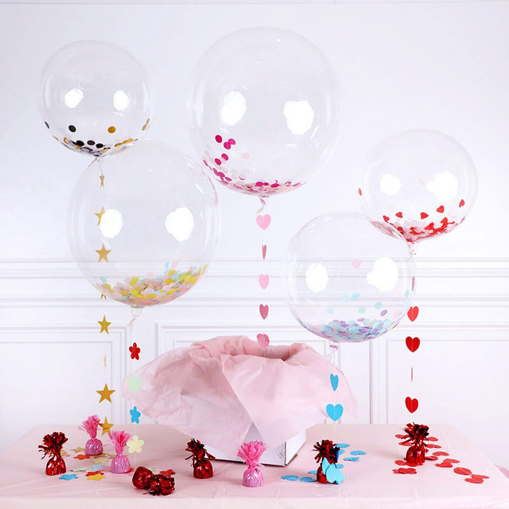 Image 2 - 10pcs 12/18 inch Luminous Transparent Bobo Bubble Ballons Christmas Wedding Marriage Birthday Party Decorations Helium Balloons-in Ballons & Accessories from Home & Garden