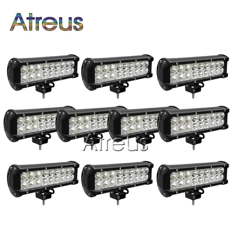 10ks 9 palců 54W auto LED pracovní světlo bar 12V bodové DRL pro - Autosvětla