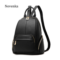 NEVENKA Women Vintage Backpack Women S High Quality Casual Zipper Backpacks Ladies Brand Travle Bags Female