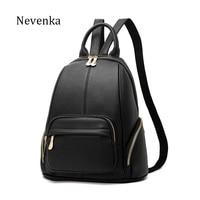 NEVENKA Women Vintage Backpack Women S High Quality Casual Zipper Backpacks Ladies Brand Travle Bags Female