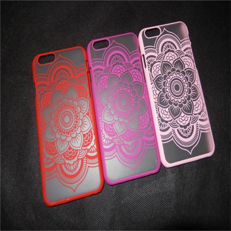 YENI Klasik Dantel Mandala Çiçek Telefon Kılıfları Apple iphone - Cep Telefonu Yedek Parça ve Aksesuarları - Fotoğraf 2