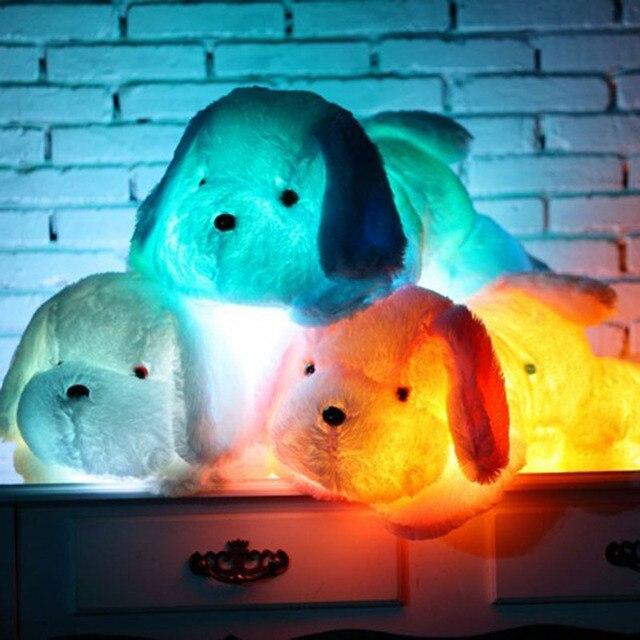 50 см 80 см Собака PlushToy Милый Свет Щенок Подушка Мигающий СВЕТОДИОД свет Игрушки Светящиеся В Темноте Дети Игрушки Подарок для дети