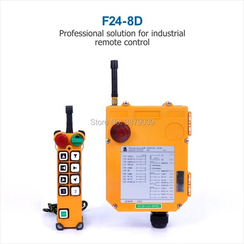 TELECRANE промышленный беспроводной радио двойная скорость 8 uttons F24 8D пульт дистанционного управления (1 передатчик + 1 приемник) для крана