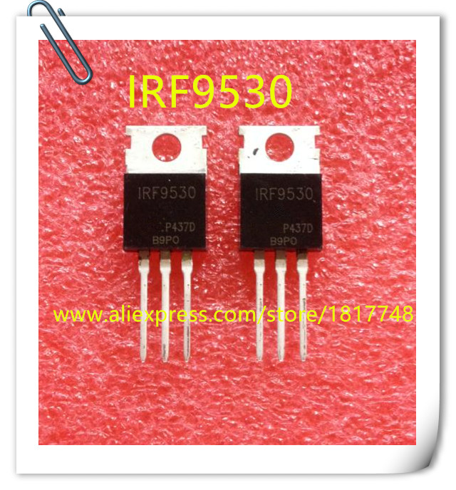 10PCS/LOT IRF9530NPBF IRF9530N IRF9530 F9530N 100V 14A TO-220 P Channel MOS Field Effect Transistor New Original