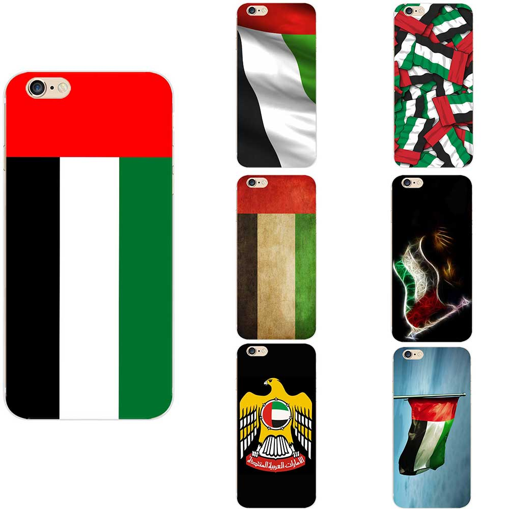 US $1 0 |UAE United Arab Emirates National Flag Coat Of ArmsTheme Soft TPU  Phone Back Cases For iPhone 6/6s/7/7s/8s/X/XR/MAX/ Plus-in Fitted Cases