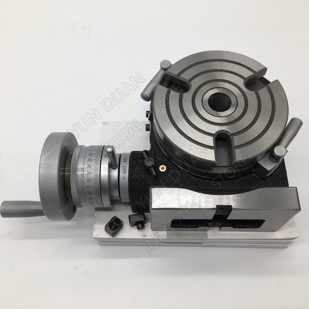 100mm 110mm 4 Indexing Plate Rotary table vertical and horizontal HV4 For CNC Milling Drilling Grinding Machine100mm 110mm 4 Indexing Plate Rotary table vertical and horizontal HV4 For CNC Milling Drilling Grinding Machine