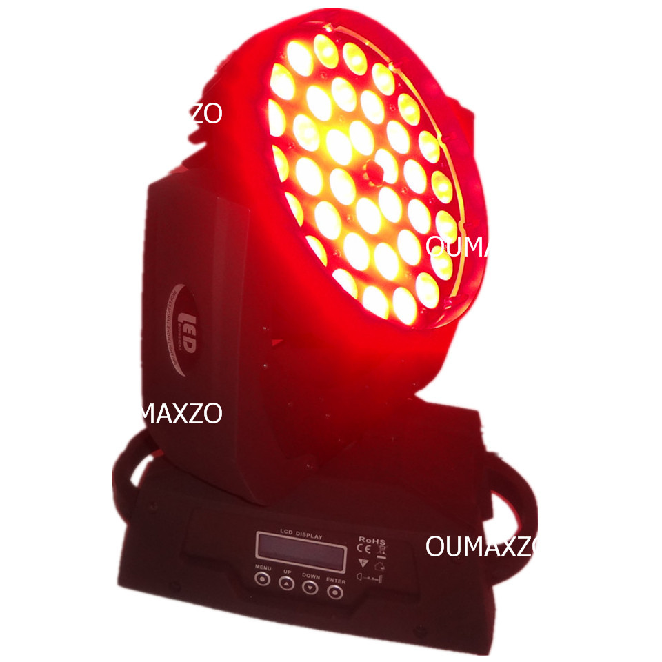2 pcs/lot RGBAW LED zoom stade lumière 5 en 1 LED zoom lavage LED orientable dj lavage lumière RGBWA 5in1 LED s déplacer la tête 36x15 w dmx lavage - 5