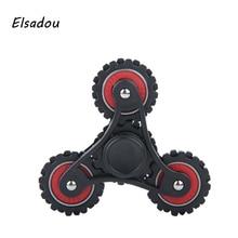 Elsadou 4 Gear Black Fidget Spiner Hand Spinner Best Finger Toy Handspinner