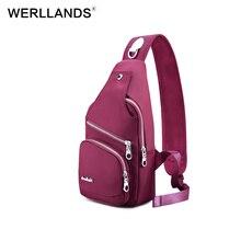 Werllands женщины Грудь сумка мужчин Single ремень сумки Водонепроницаемый для отдыха модные Crossbody сумка слинг плеча Crossbody сумки