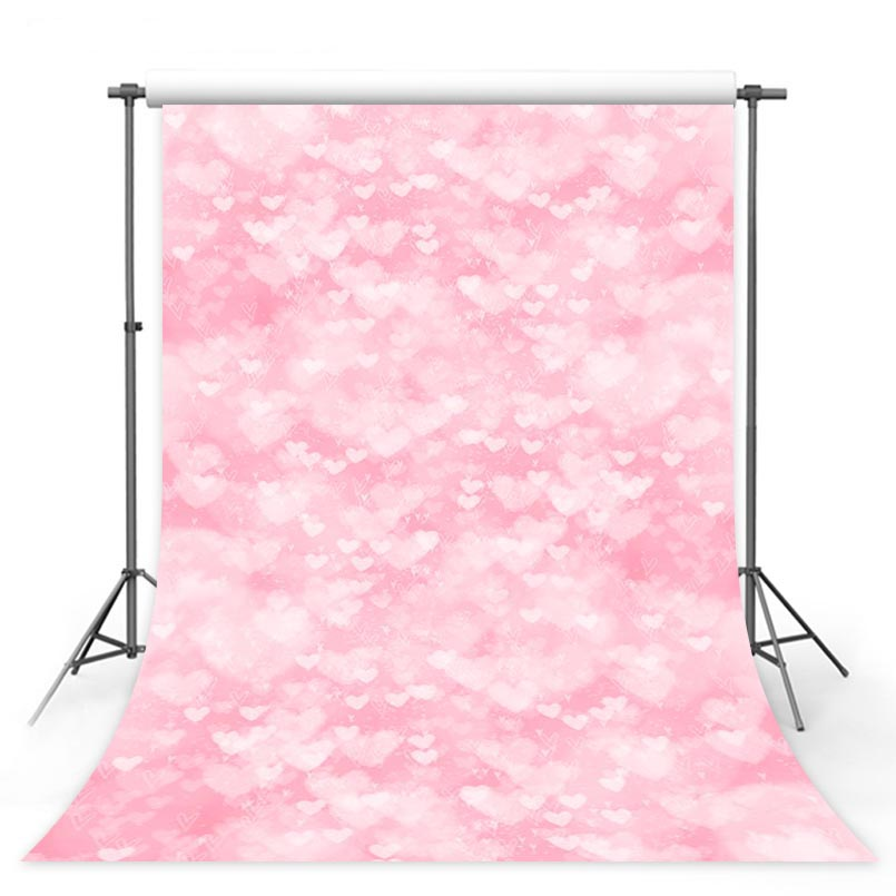 Customized vinyl cloth hand painted pink flowers style photography backgrounds for baby model photo portrait backdrops S-2991