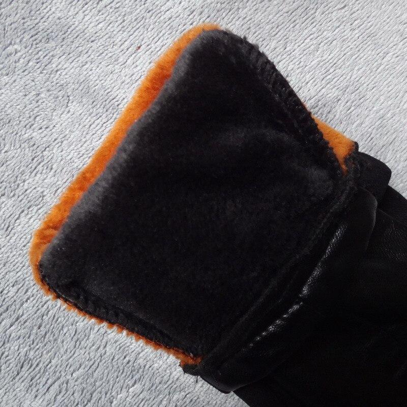 PU Cuciture In Pelle Leggings Inverno Più Leggings di Velluto Delle Donne A Vita Alta Nero Leggins Caldo Skinny Pantaloni Lunghi Legging C3931 - 5